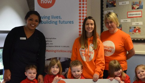 celebrating a successful year of fundraising across our nurseries for Meningitis Now
