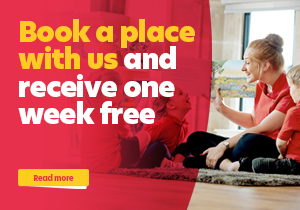 Book a place with us and receive one week free