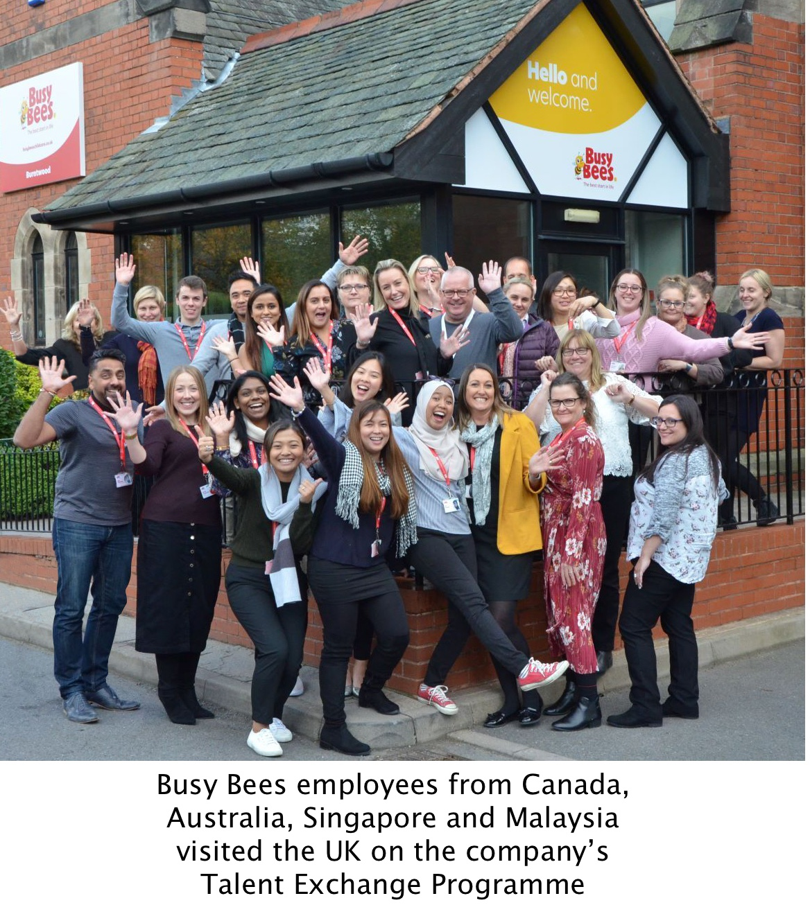 Busy Bees staff benefiting from the Talent Exchange Programme