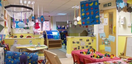 A look inside one of the nursery rooms at Busy Bees at South Staffs Water