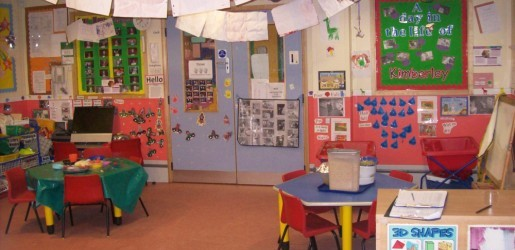 A look inside one of the nursery rooms at Busy Bees at Milford School