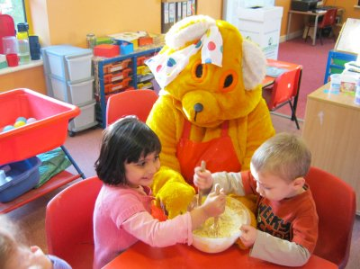 Pudsey Bear joins in the fun