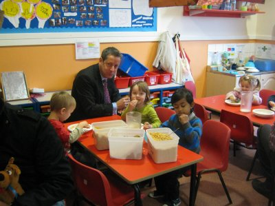 Breakfast in nursery