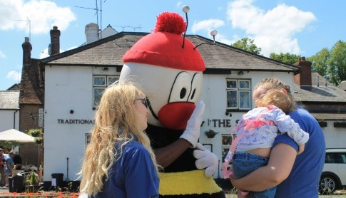Busy Bees attended the 50th Aniversary Harpenden Carnival with Buster Bee!