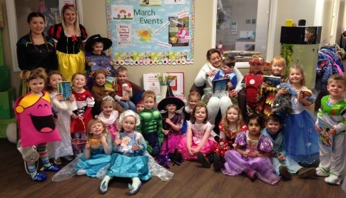 Preschool celebrated their favourite stories, tales and rhymes on World Book Day through dressing up and role play.