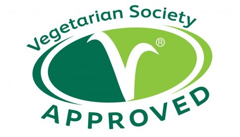 Our food is Vegetarian Society approved!