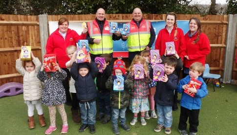 Busy Bee's go on an easter egg hunt with Tesco