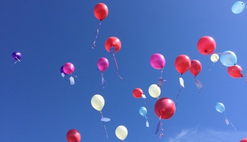 Children made a wish and attached it to a Balloon!