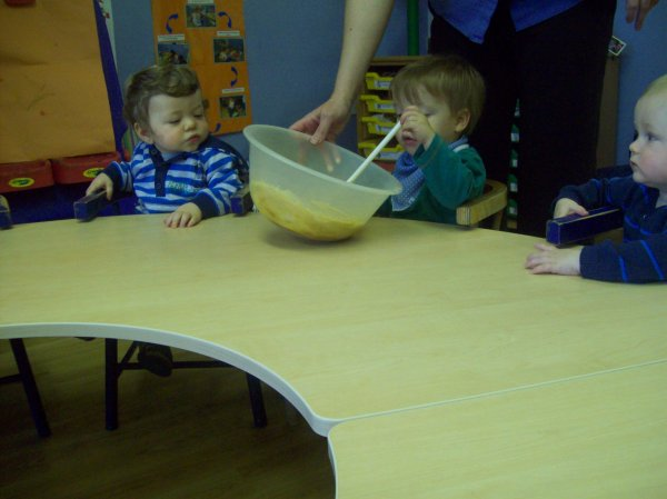 Babies cooking up a tasty treat.  Photo-2