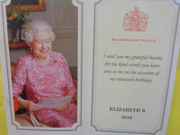 Our thank you from Her Majesty the Queen! Photo-2