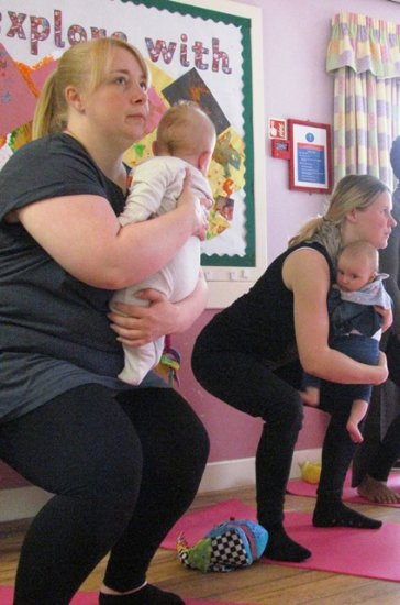 Keeping it fit with a Mum & Baby Yoga class  Photo-4