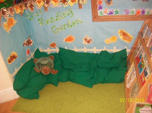 Turtles new reading garden.  Photo-1
