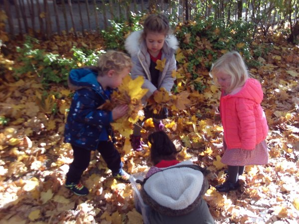 Busy Bees Leaf Day Photo-2