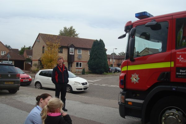 A visit from the local Fire Engine Photo-1