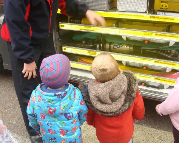 A visit from the local Fire Engine Photo-3