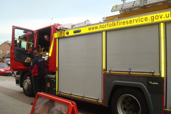 A visit from the local Fire Engine Photo-4