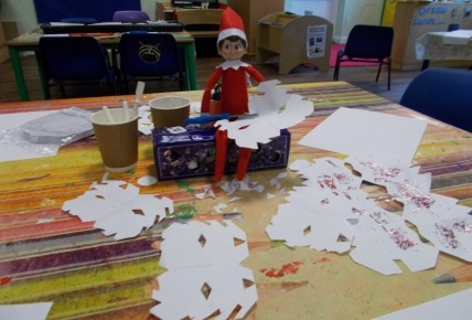 Fizzy Stockings the Elf joins Pre-School! Photo-1