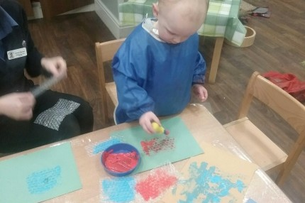 Bubble Wrap Painting Project