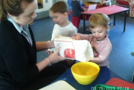 Toddlers Making Play Dough Photo-1