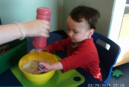 Toddlers Making Play Dough Photo-3