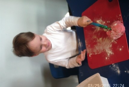 Toddlers Making Play Dough Photo-5