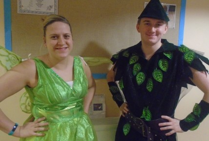 "Our Peter Pan (Daniel) and Tink (Helen) ""believe"""