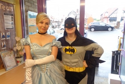 Cinderella and Batman came to visit! Photo-1
