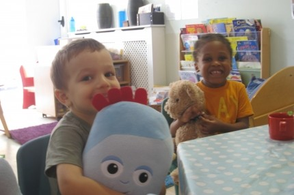 Ilyas, Iggle Piggle, Jaiden and his teddy had lots of fun!