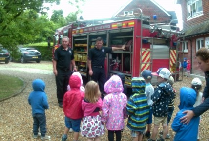 A visit from the local firefighters  Photo-1