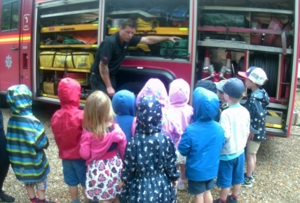 A visit from the local firefighters  Photo-2