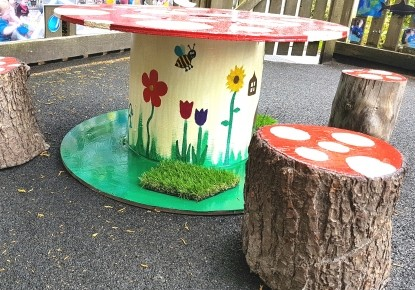 Toadstool table and stools  Photo-1