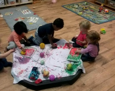 The Toddler Blog- Ball Painting Photo-1