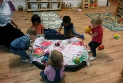 The Toddler Blog- Ball Painting Photo-4