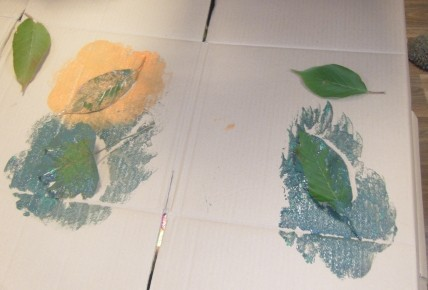 Pre School Leaf Printing Photo-2