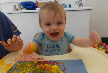 Baby Group -Fire work painting Photo-1