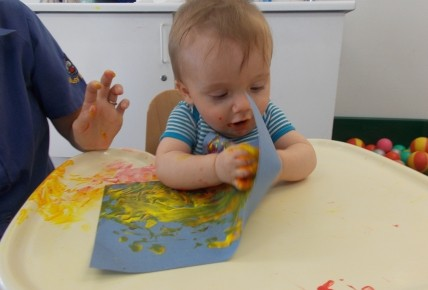 Baby Group -Fire work painting Photo-2