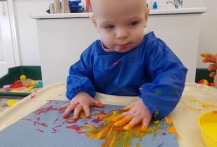 Baby Group -Fire work painting Photo-4