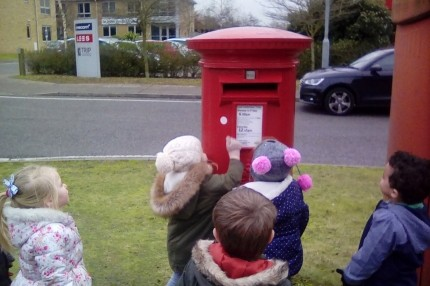 Posting the letter to Father Christmas