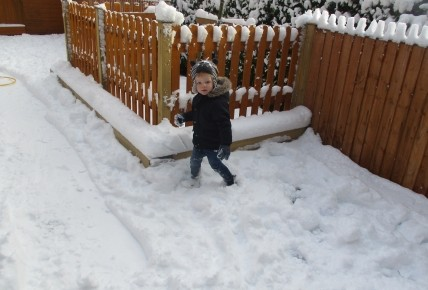 Fun in the snow at Burntwood nursery! Photo-1