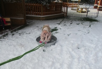 Fun in the snow at Burntwood nursery! Photo-4
