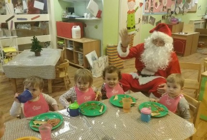 Santa came to nursery for breakfast!  Photo-1