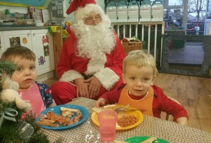 Santa came to nursery for breakfast!  Photo-2