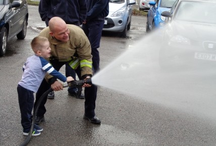 When the Fire Brigade came to nursery Photo-2