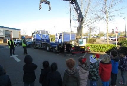 Jewson the builders visit our foundation class Photo-2