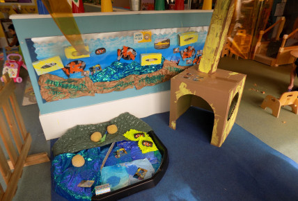 1-2's new under the sea role play area.
