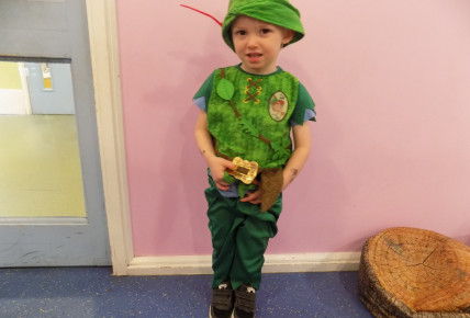 Peter Pan visited 2-3's during World Book Day.