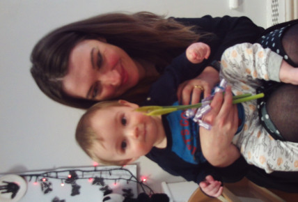Dexter with his Mummy at the Tea Party