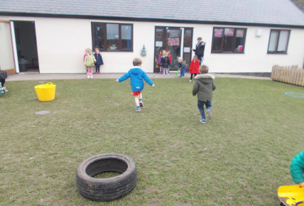 Doing different races and games, when raising money for Sport Relief