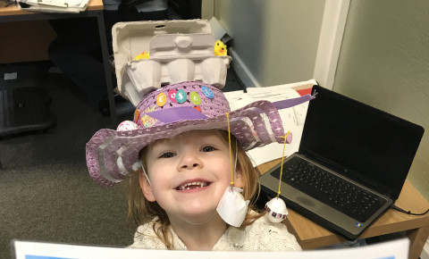 Easter bonnet 2018 Busy Bees QE Photo-5