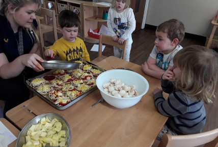 Pizza Making in Pre-school Photo-1